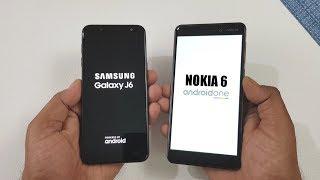 Samsung Galaxy J6 vs Nokia 6 (2018) Speed Test !