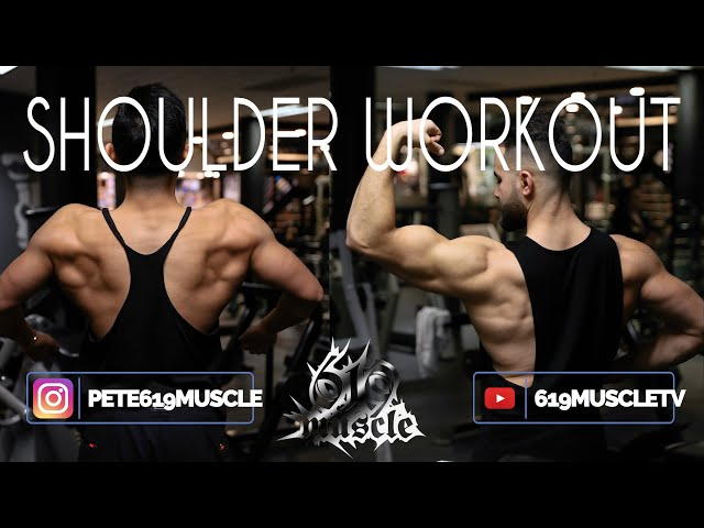 619 MUSCLE TV:  Training Series - High-Intensity shoulder workout with Shuai Li and Hocine Belaid!