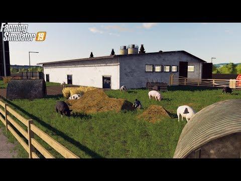 1000 PIG ENCLOSURE | MEGA RANCH FARM | FARMING SIMULATOR 2019