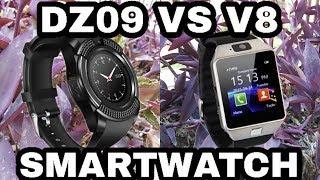 DZ09 vs V8 Smartwatch