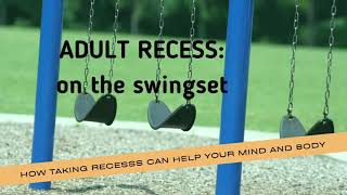Adult Recess on the Swingset