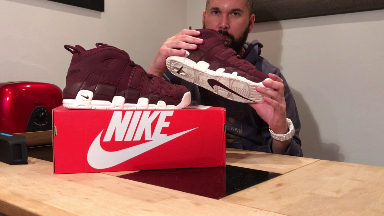 brand new 513fc 09903 Unboxing   Nike Air More Uptempo  96 QS - NIGHT MAROON    Bordeaux  921949- 600