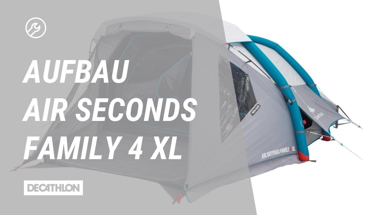 zelt air seconds fresh black family 4 xl aufbau anleitung youtube. Black Bedroom Furniture Sets. Home Design Ideas