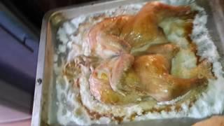 Курица на соли в духовке часть 3.
