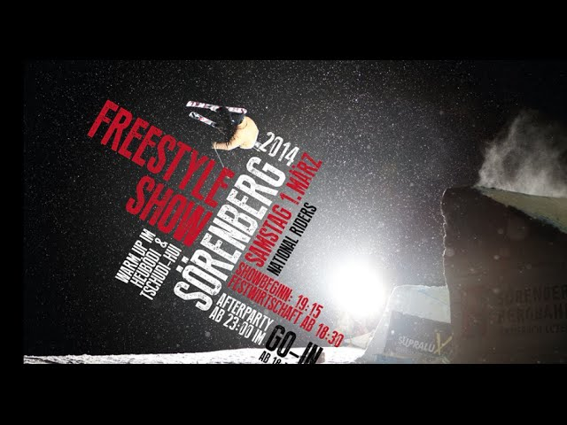 Freestyleshow Sörenberg 2014 ,Aufbau