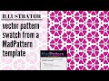 Create, Color and Save a Vector Pattern Swatch in Illustrator using a Free Madpattern Template