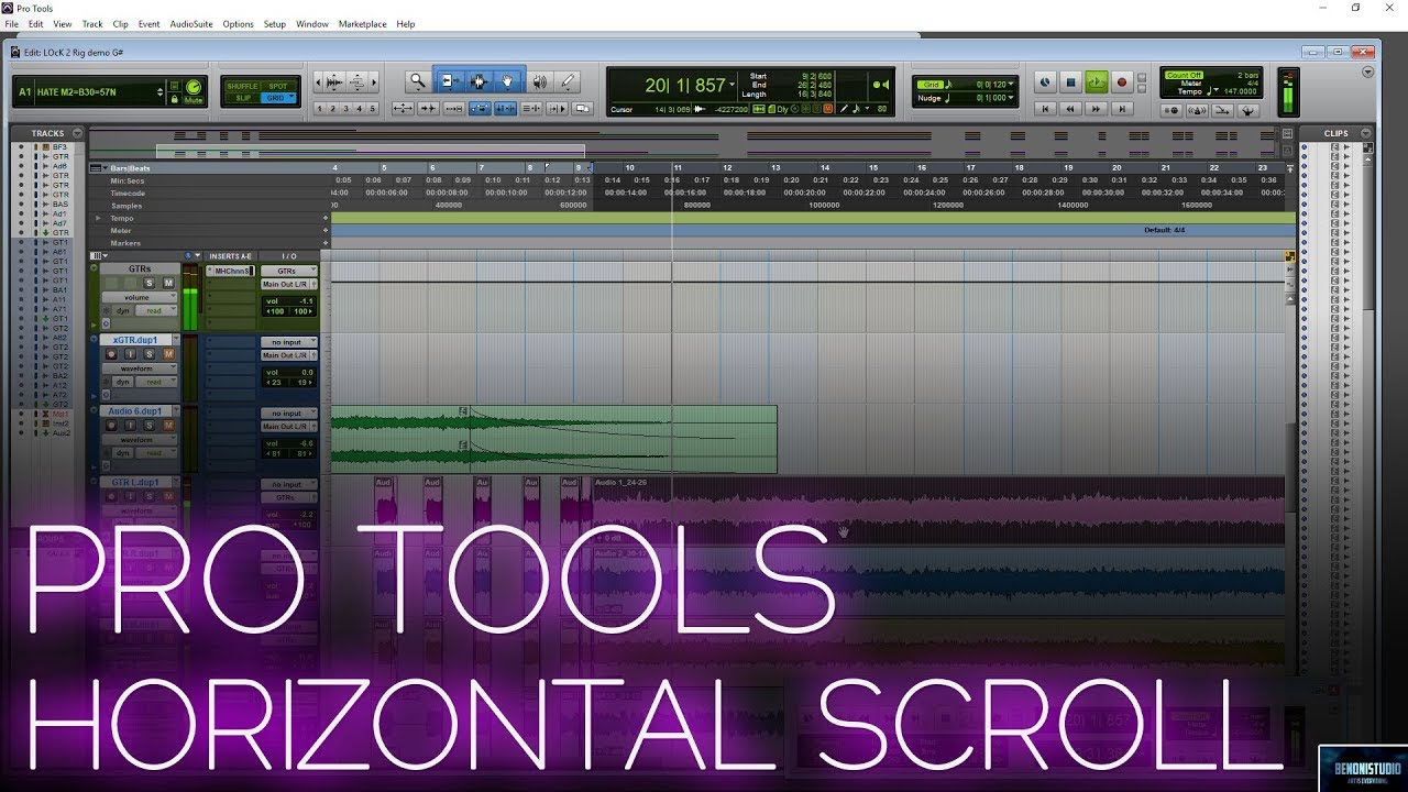 PRO TOOLS 2018 | HORIZONTAL SCROLL WITH MOUSE WHEEL