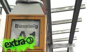 Realer Irrsinn: Das neue Regendach am Bonner Busbahnhof