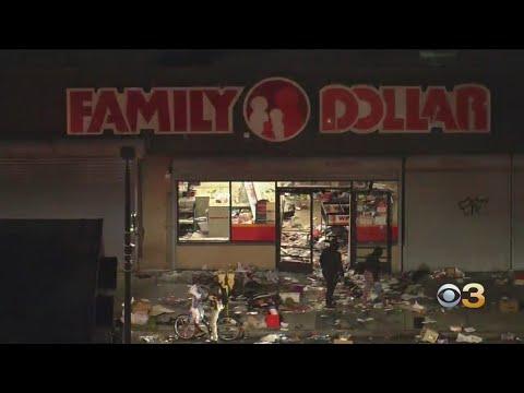 Looters Ransack Family Dollar Store In West Philadelphia