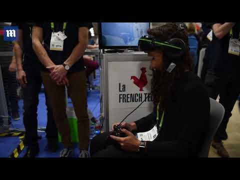 interactive VR drone video game at the CES in Las Vegas