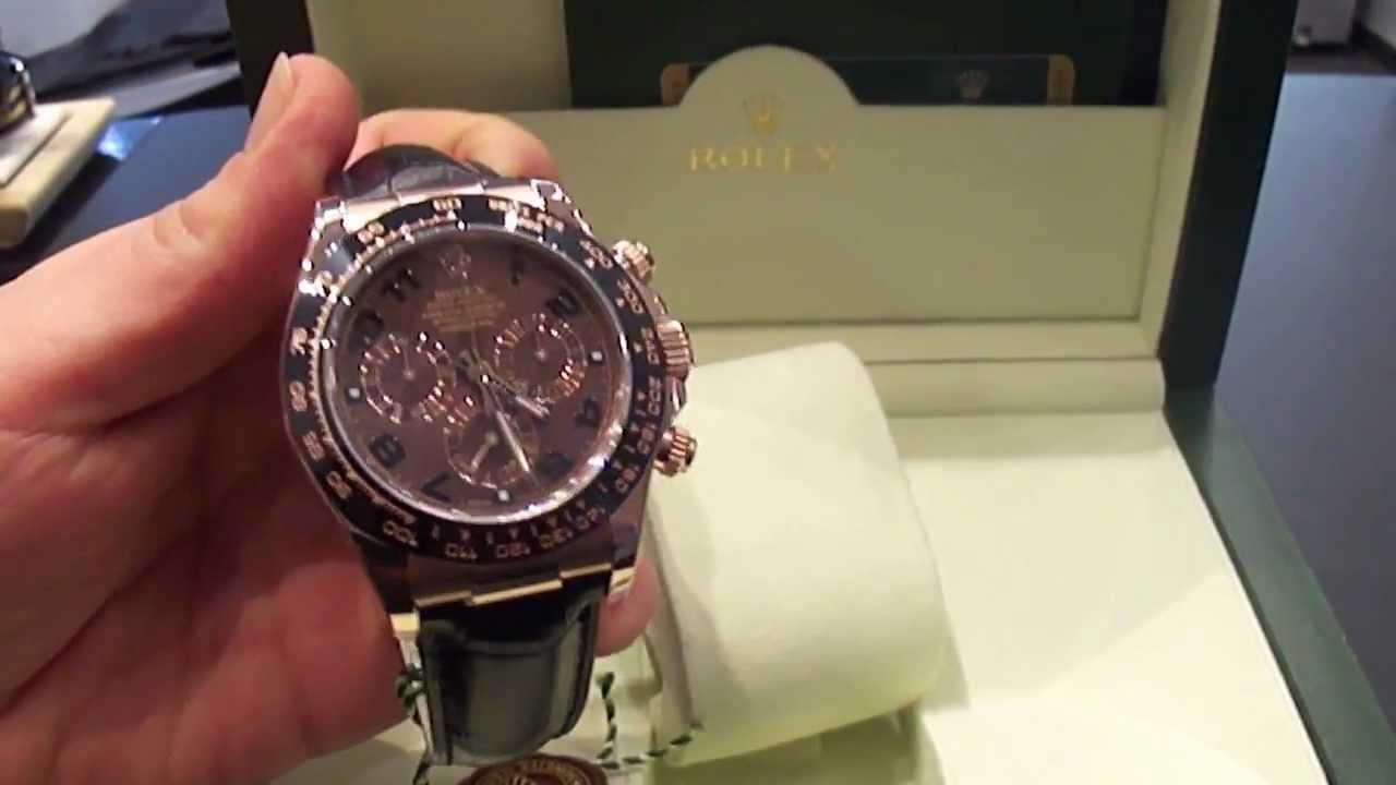 Rolex Daytona Oro Rosa Cinturino Pelle