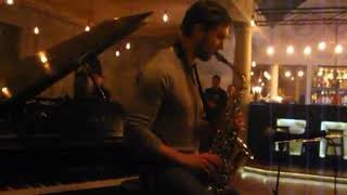 "Live sax "" September "" . Eugen jazz sax . Jazz bar  Alchemist"