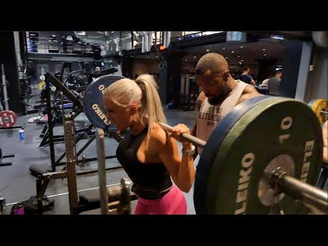 Mike Rashid and Anna Staalnacke Train Legs at Gymmet Stockholm