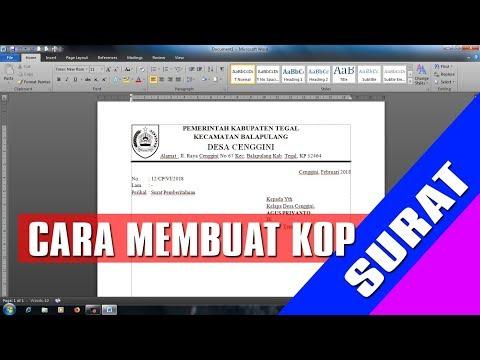 Cara membuat Kop Surat #Microsoft Word 2010