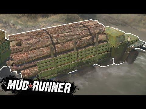 LOG-HAULING THROUGH HUGE BOG! - Spintires: MudRunner Multiplayer Gameplay - Bog Map Gameplay