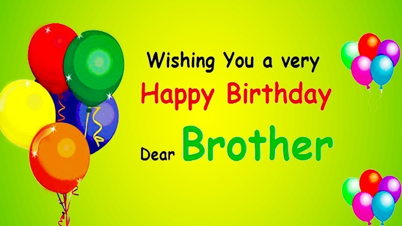Happy Birthday Wishes For Brother Birthday Quotes Messages Sms Greetings And Saying Youtube