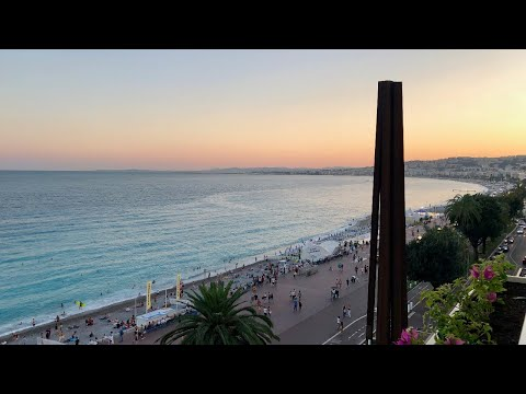 Nice South Of France Côte D'Azur Nature Beach In 4k