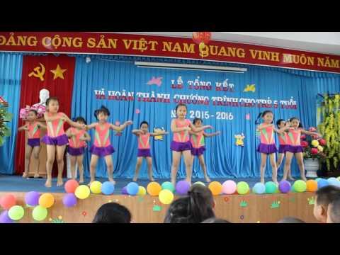 Nhảy Aerobic- Đội múa khối Chồi Trường mầm non Trúc Xanh- Vũng Tàu