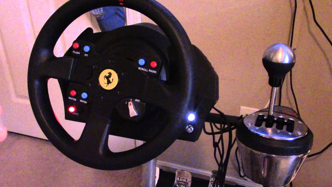 thrustmaster tx 458 italia racing wheel xbox one youtube. Black Bedroom Furniture Sets. Home Design Ideas
