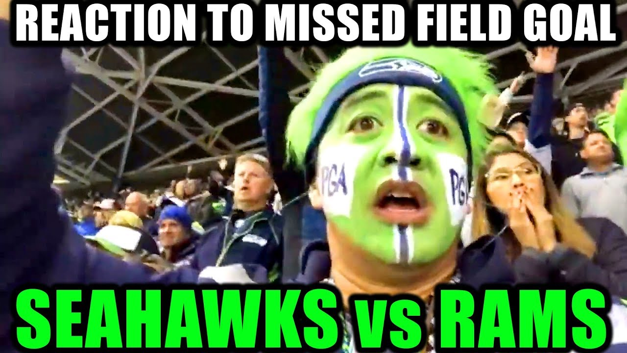 Best Fan Reaction To Rams Missed Field Goal Vs The Seahawks Thursday Night Football Norbcam Reacts Youtube