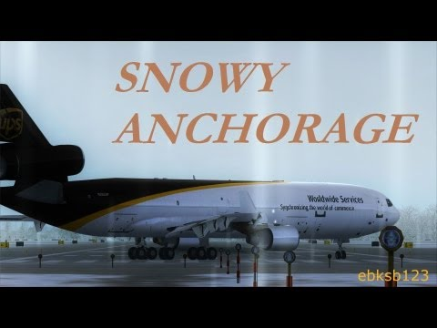 FSX HD 1080p - Boeing & Airbus ACTION @Anchorage!!! AS REAL AS IT GETS