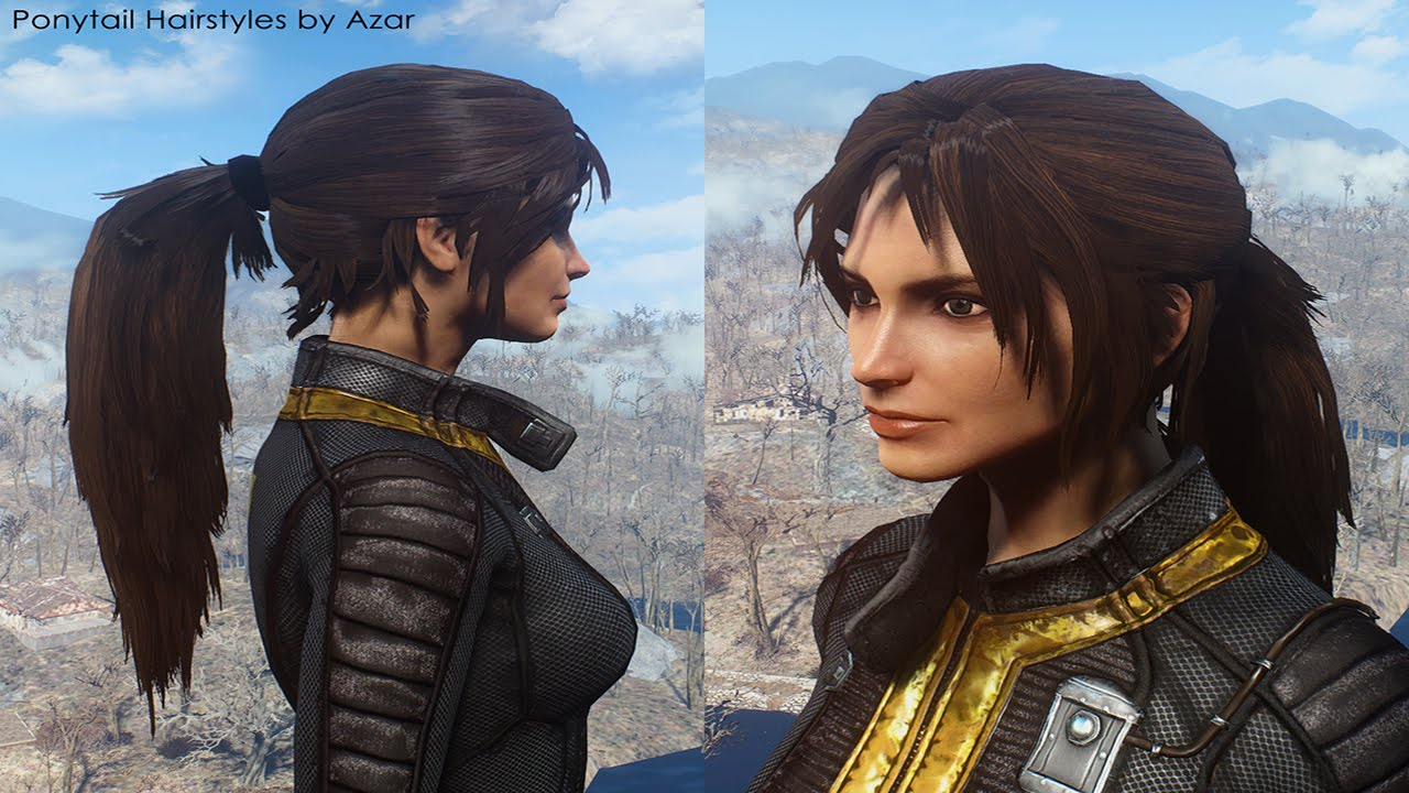 Ponytail Hairstyles by Azar v2 5a at Fallout 4 Nexus - Mods
