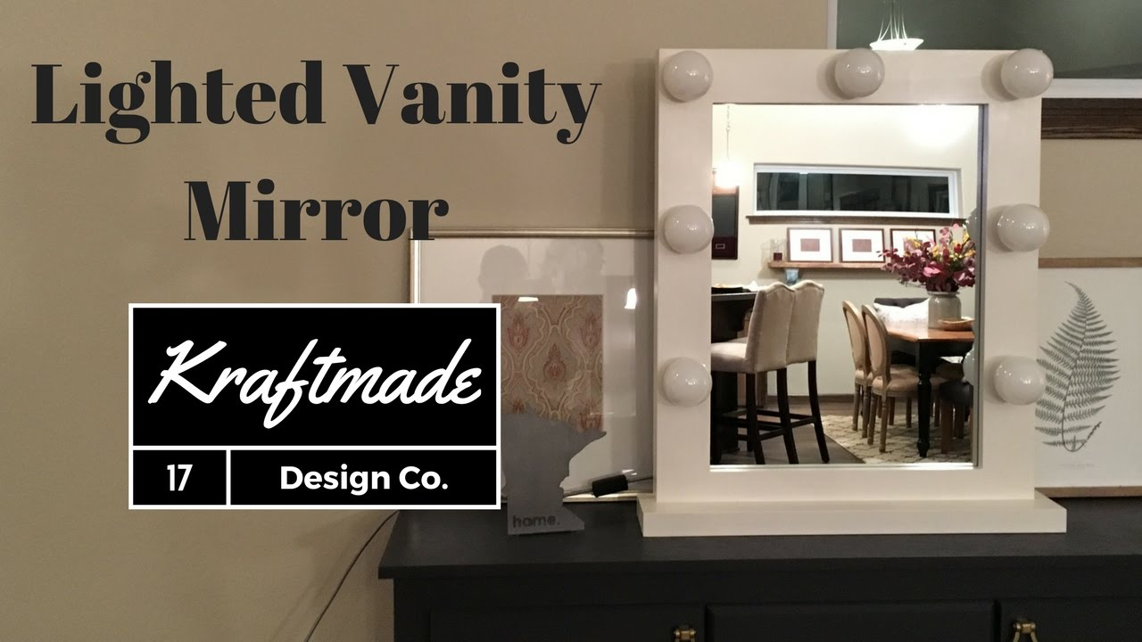 diy lighted vanity mirror. DIY Lighted Vanity Mirror  Kraftmade YouTube