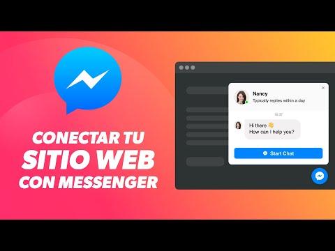 Poner Chat De Facebook En Tu Página Web | Conecta Tu Sitio Web Con Facebook Messenger