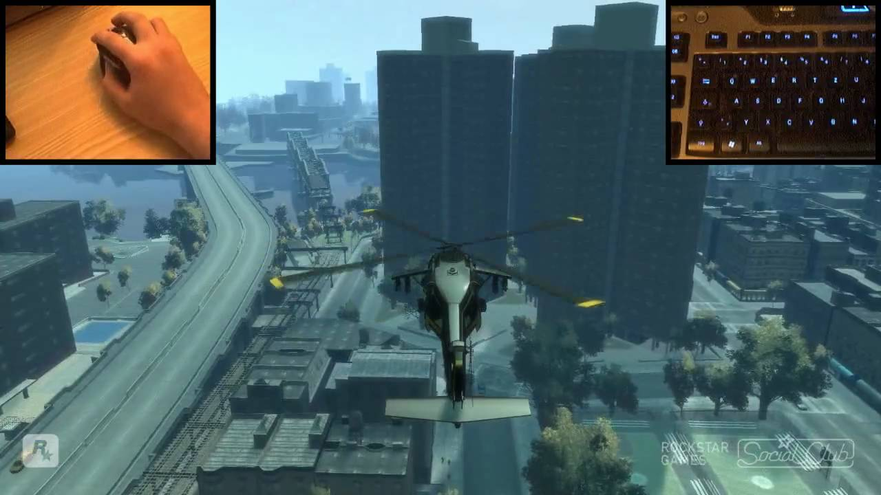 How to Fly a helicopter with a keyboard in GTA IV « PC Games