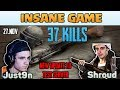 INSANE GAME - Shroud and Just9n 37 kills DUO FPP [TEST SERVER] - PUBG HIGHLIGHTS TOP 1 #17