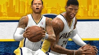 NBA Live 14 Rising Star PS4 #4 - CAREER HIGH In Debut Game With New Team