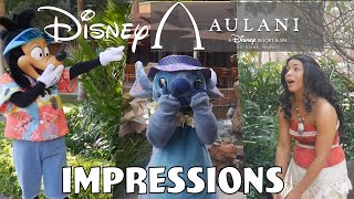 Impressions to Disney Characters Compilation  Aulani Hawaiian Resort