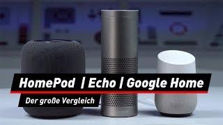 HomePod, Amazon Echo, Google Home: Wer gewinnt?