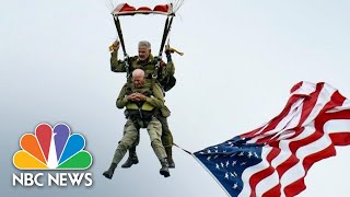 """Tom Rice was with the 101st Airborne Division on 6th June 1944 as they parachuted into Nazi-occupied France, at night and under fire. """"» Subscribe to NBC ..."""