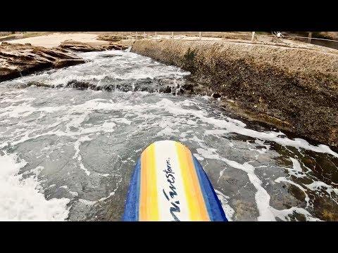 RARE NOVELTY WAVE SURFING IN SYDNEY HARBOUR