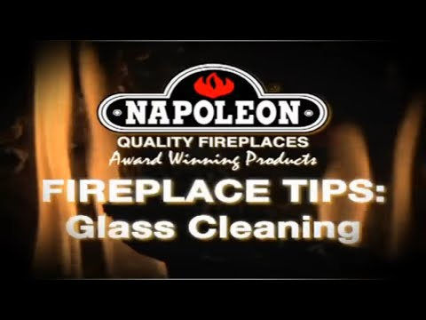 napoleon fireplace cleaning the glass on your fireplace at