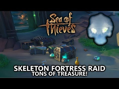 Sea of Thieves - Skeleton Fortress Raid Public Event Guide (Skull Cloud) - Best Way to Get Loot!