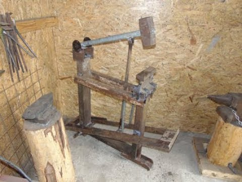 Homemade treadle hammer