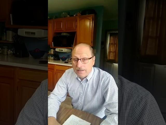Pastor Dan Devotional, Monday, May 11, 2020