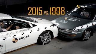 ANCAP Crash Test: 1998 Toyota Corolla vs 2015 Toyota Corolla (Auris)