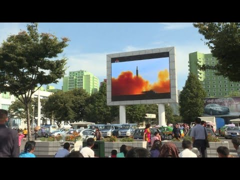 Pyongyang residents celebrate missile launch