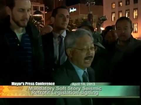 Mayor Lee & Supervisors Sign City's Mandatory Seismic Retrofit Program For Soft Story Buildings