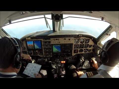 King Air B100 flight training!