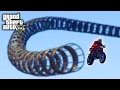 Impossible GTAV motocycle stunt race!