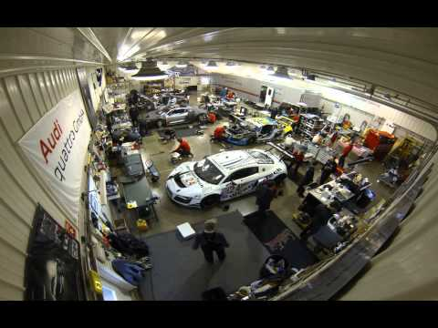 2013 Rolex 24 Audi R8 Grand Am Time lapse at Kettler Motor Werks / ASCR