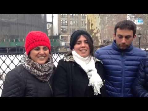 Familia desde Argentina, durante el tour Contrastes de Nueva York