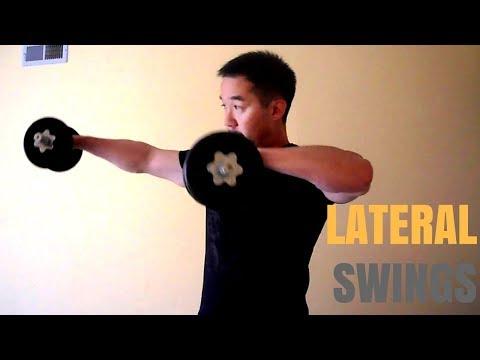 Dumbbell lateral swings