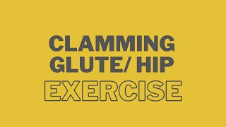 Clamming Glute/ Hip Exercise