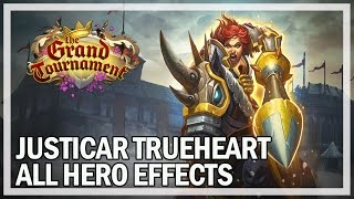 Hearthstone - Justicar Trueheart All Hero Power Effects (Gameplay)