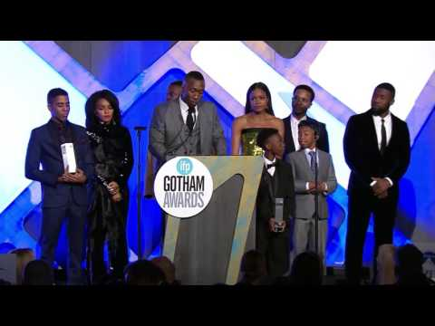 The cast of MOONLIGHT accepts a Special Jury Prize 2016 IFP Gotham Award (Ensemble Performance)